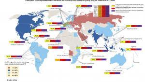 Efektywna stopa oprocentowania dochodu pd osób fizycznych oraz ich górny próg na świecie w 2012 roku