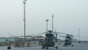 Helikoptery sokół w służbie w Bagdadzie.