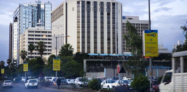 Widok na centrum finansowe Nairobi
