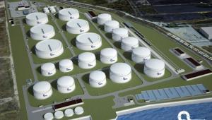 Terminal naftowy w Gdańsku - wizualizacja, źródło: PERN