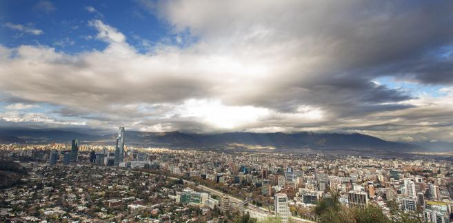 Widok na stolicę Chile, Santiago. 10.08.2013