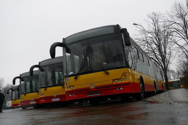 Solbusy na LNG w zajezdni na Ostrobramskiej