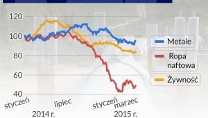 Indeks cen surowców (infografika Dariusz Gąszczyk)