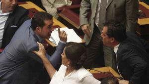 Debata w greckim parlamencie EPA/ALEXANDROS VLACHOS Dostawca: PAP/EPA.