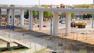Estakada zjazdowa z mostu Grota w stronę warszawskeigo Tarchomina