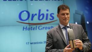 Prezes zarządu Orbis SA Gilles Stephane Clavie, podczas debiutu obligacji spółki Orbis SA na rynku Catalyst warszawskiej Giełdy Papierów Wartościowych, 17 bm. (mr) PAP/Leszek Szymański