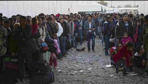 Imigranci czekają na przejście przez serbską granicę  EPA/VALDRIN XHEMAJ Dostawca: PAP/EPA.