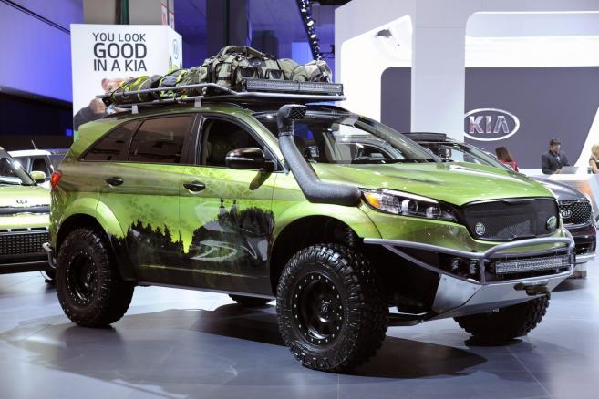 Los Angeles Auto Show 2015 - KIA Sorrento - fot. EPA/BOB RIHA JR Dostawca: PAP/EPA