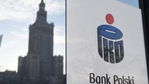 Oddział Banku PKO BP mieszczący się przy ulicy Sienkiewicza w Warszawie