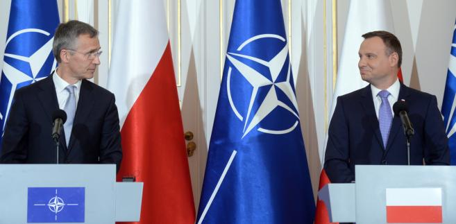 Prezydent Andrzej Duda i sekretarz generalny Sojuszu Północnoatlantyckiego Jens Stoltenber