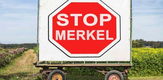 Protesty przeciw polityce Angeli Merkel