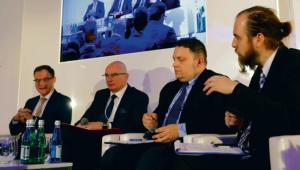 Od prawej: Krzysztof Berenda, Marcin Chludziński, Adam Łącki, Krzysztof Krystowski