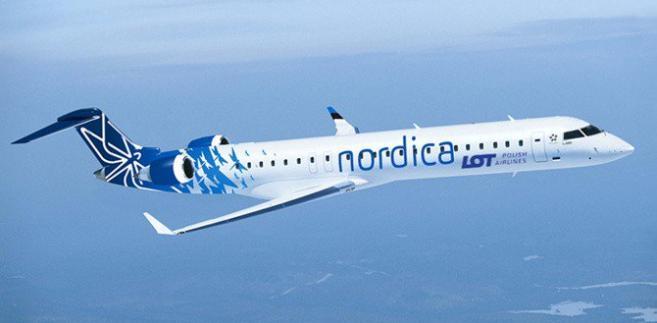 Bombardier w barwach Nordica LOT