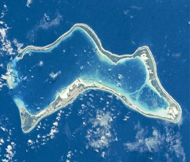 Zdjęcie satelitarne Diego Garcia, fot. NASA