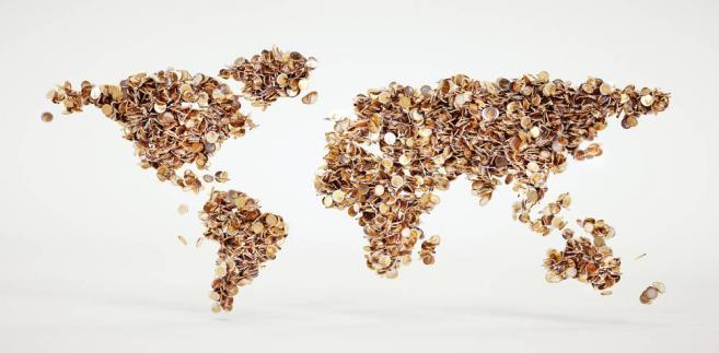 mapa świata, pieniądze
