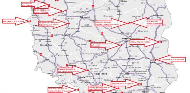 15 Programów Inwestycji dla zadań drogowych. Źródło: Ministerstwo Infrastruktury i Budownictwa