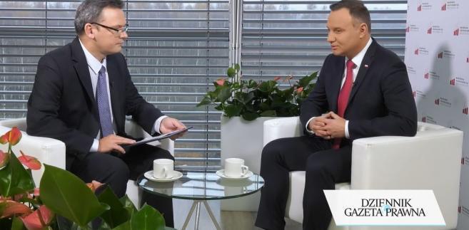 Krzysztof Jedlak i prezydent Andrzej Duda