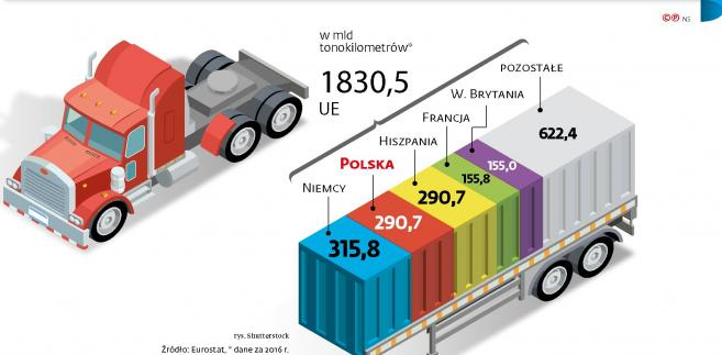 Liderzy transportu drogowego w krajach UE