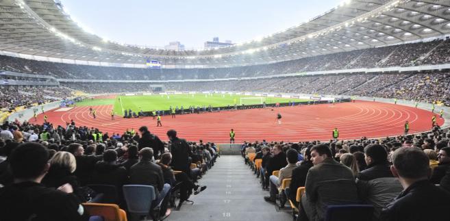 Stadion Olimpijski w Kijowie podczas meczu Dynama Kijów z drużyną z Dnietropietrowska