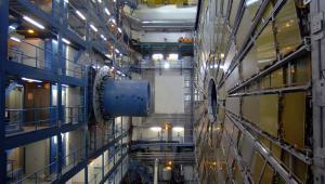 Detektor cząstek ATLAS w Europejskim Ośrodku Badań Jądrowych CERN w pobliżu Genewy.