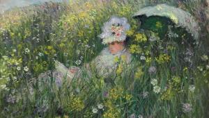 Obraz Claude Moneta Na łące namalowany przez francuskiego impresjonistę w 1876 roku. Fot. Bloomberg