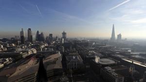 Panorama Londynu z istniejącymi i dopiero budowanymi wieżowcami, 30.11.2012