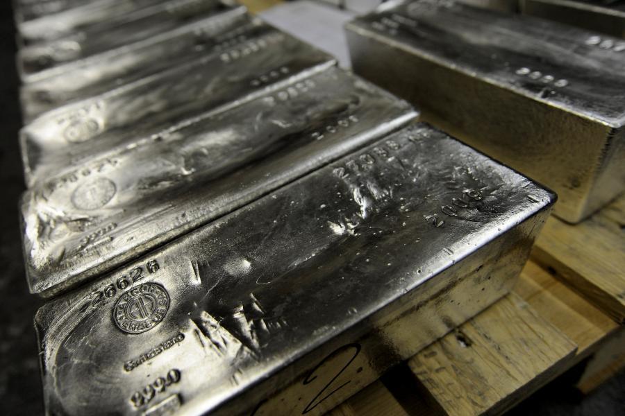 Sztabki srebra