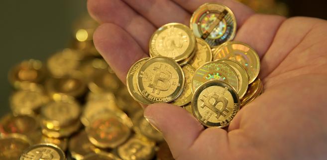 Bitcoin w fizycznej formie - wyprodukowany wyłącznie do zdjęcia