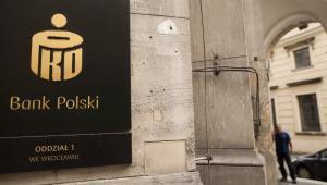 Logo banku PKO BP, oddział we Wrocławiu. 14.06.2013