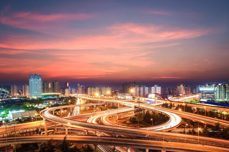 Węzeł drogowy w Szanghaju, Chiny