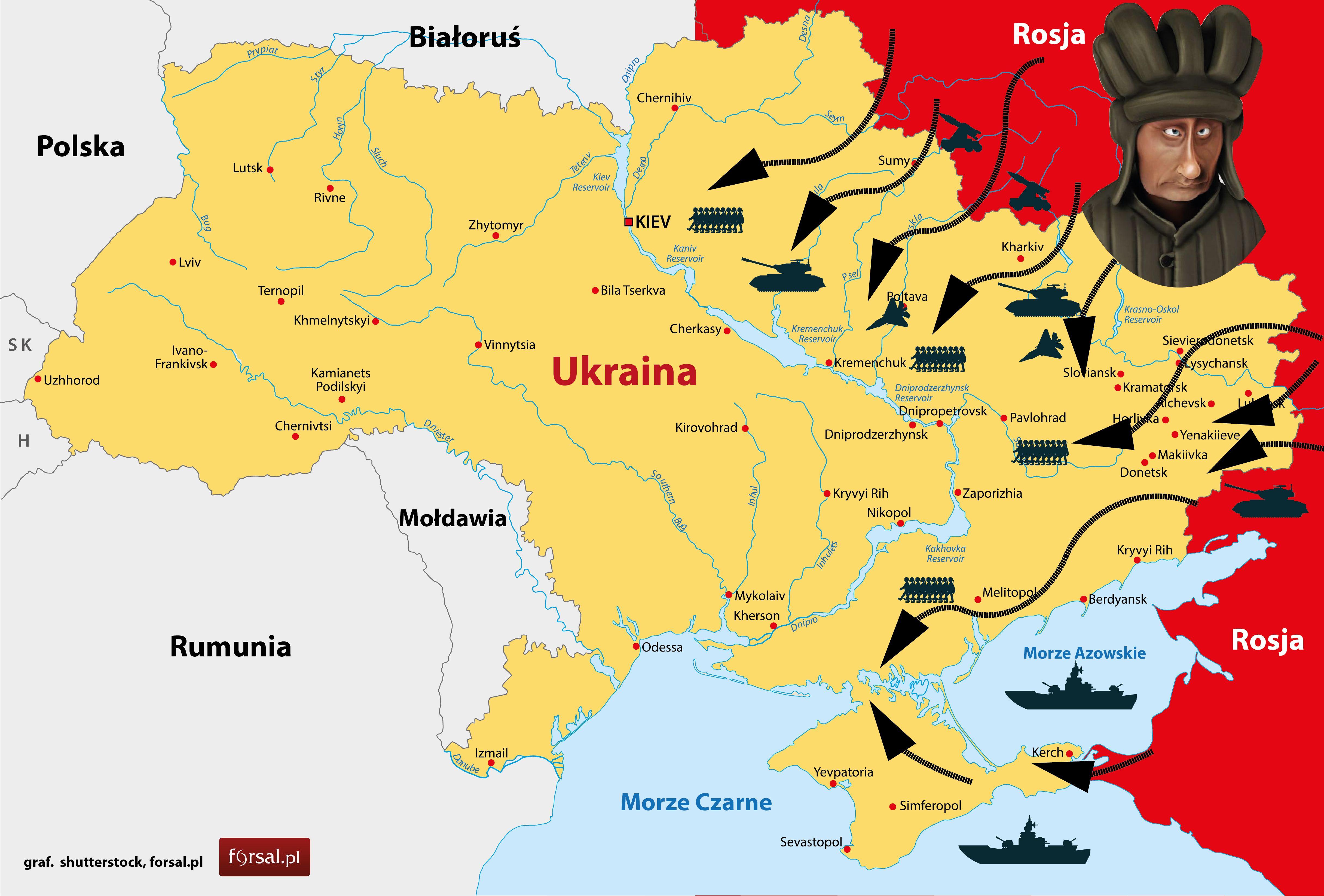 Plan Rozbioru Ukrainy Rosja Planowala Inwazje Na Krym Juz Od