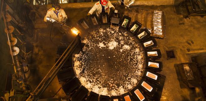 Produkcja srebra w Hucie Miedzi Głogów