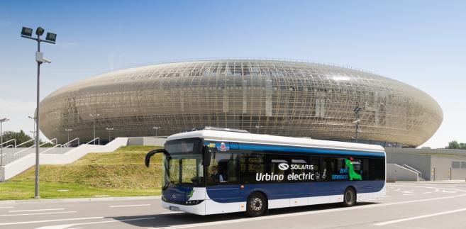 Elektryczny Solaris Urbino 12 podczas testów w Krakowie