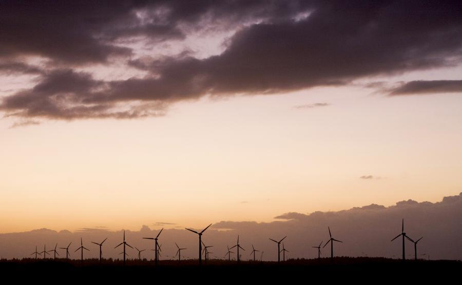 Farma wiatrowa w Lem w Danii.
