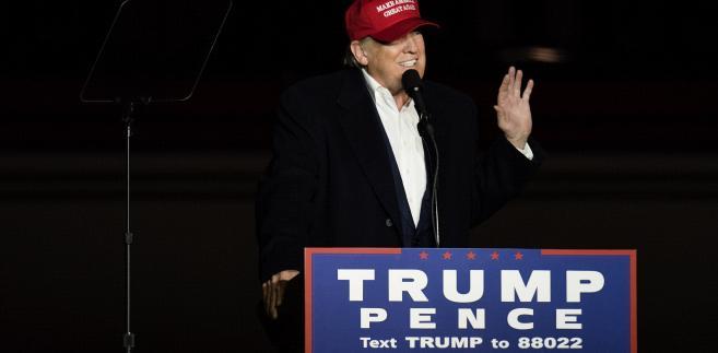 Donald Trump w Moon Township w stanie Pensylwania, 6.11.2016