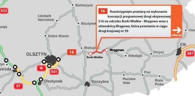 Droga ekspresowa S16- odcinek Borki Wielkie - Mrągowo