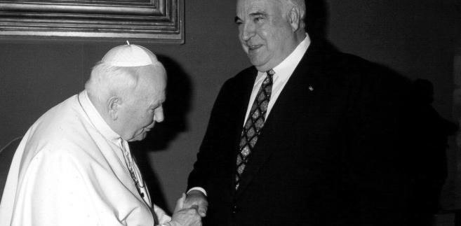 Jan Paweł II i Helmut Kohl