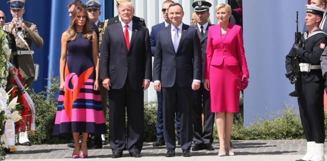 Melania i Donald Trump Agata i Andrzej Duda