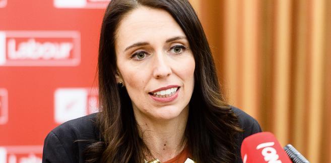 Jacinda Ardern, premier Nowej Zelandii w czasie konferencji prasowej w Wellington, 20.10.2017