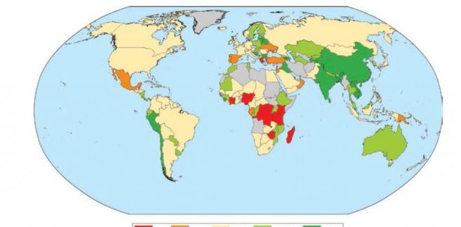 Wzrost bogactwa narodów w latach 1995-2014, źródło: Bank Światowy