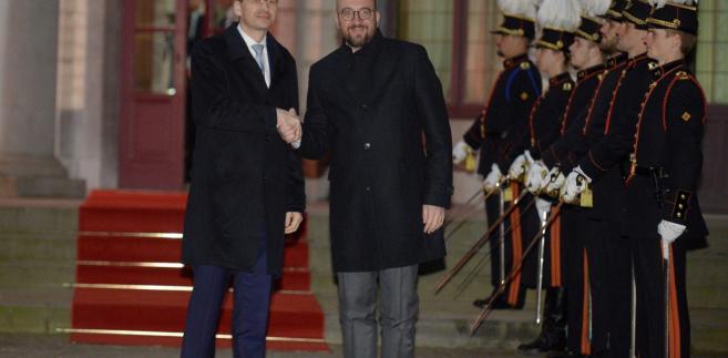 Premier Mateusz Morawiecki oraz premier Belgii Charles Michel