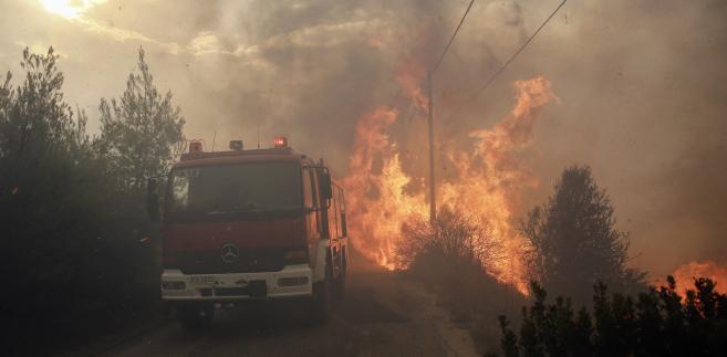 Pożar w Grecji