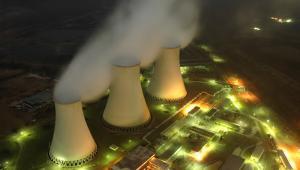 Kominy chłodzące w elektrowni atomowej. Fot. Shutterstock