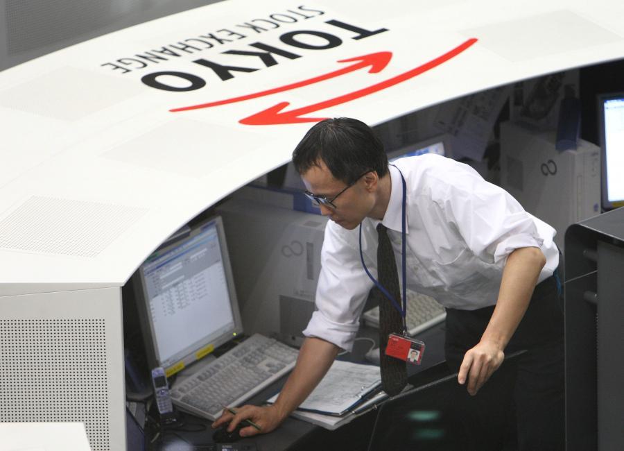 Makler na japońskiej giełdzie