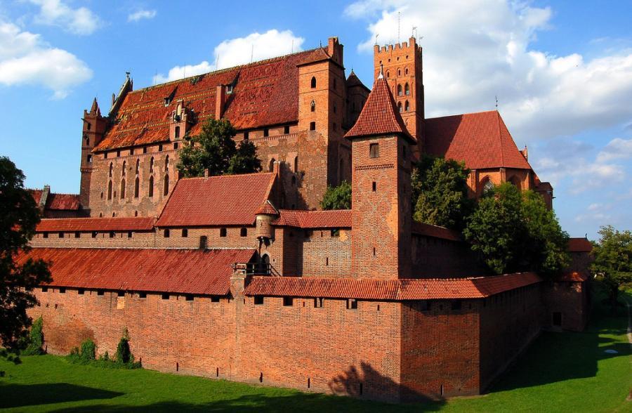 Na listę światowego dziedzictwa UNESCO w 1997 roku został wpisany zamek krzyżacki w Malborku. Fot.flickr/.Pete.